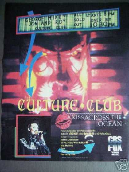 Culture Club Kiss Across the Ocean On Vhs Art (1984)