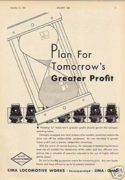 "Lima Locomotive Ad ""Plan for Tomorrow's... (1932)"