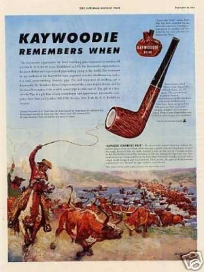 Kaywoodie Pipe Ad Norman Price Art (1949)
