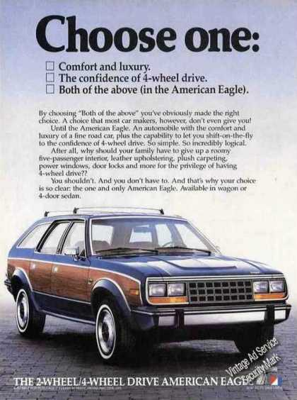 American Eagle Impressive Amc Car (1985)