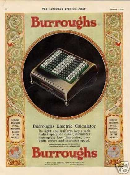 Burroughs Electric Calculator Color (1929)