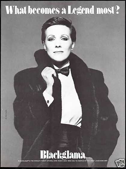 Julie Andrews Photo Blackglama Mink Fur Coat (1982)