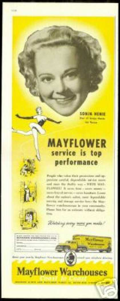 Sonja Henie Photo Mayflower Transit Co Vintage (1956)