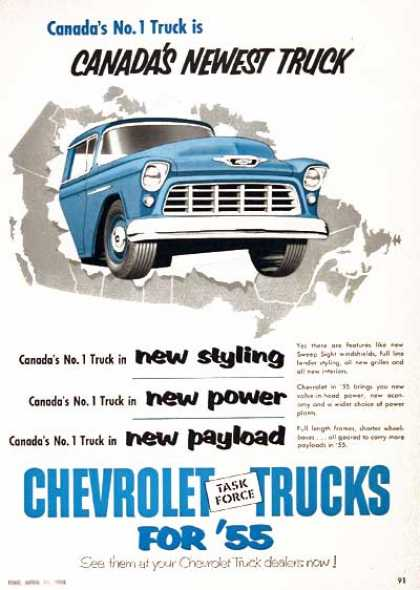 Chevrolet Pickup Trucks (1955)