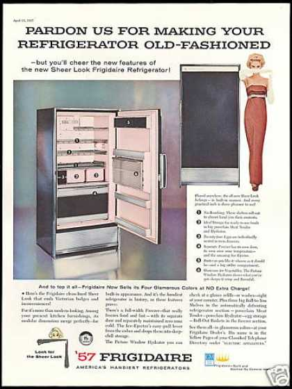 Frigidaire Sheer Look Refrigerator Photo (1957)