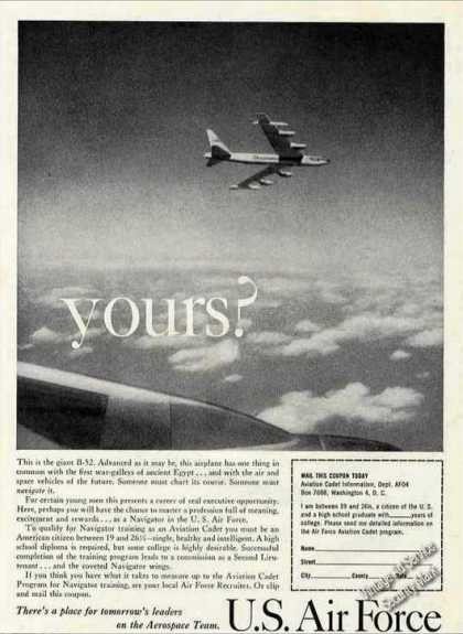 Us Air Force B-52 Yours? Recruiting (1960)