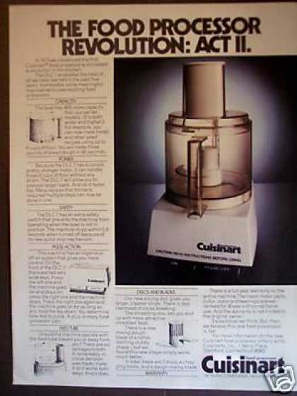 Cuisinart Food Processor Photo (1978)