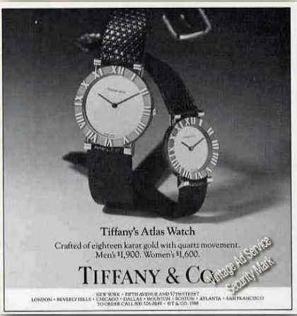 Tiffany's Atlas Watch Collectible (1988)