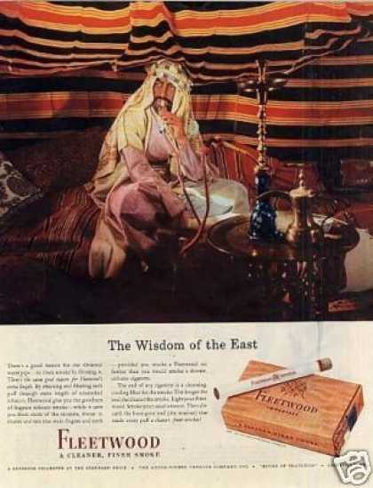 "Fleetwood Cigarettes Ad ""The Wisdom Of... (1943)"