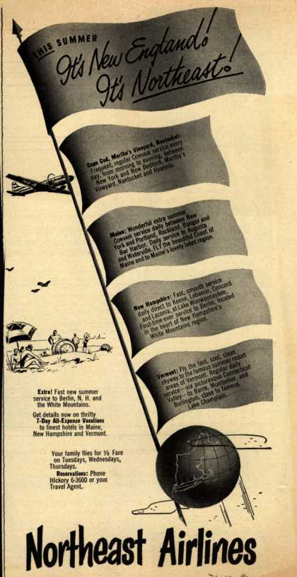 Northeast Airline's Summer Travel – This Summer It's New England! It's Northeast (1951)