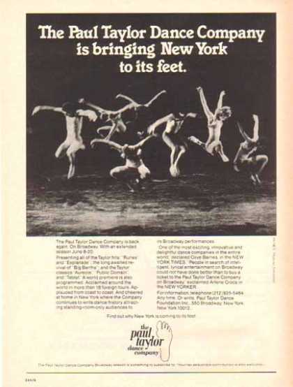 Paul Taylor Dance Company – New York (1976)