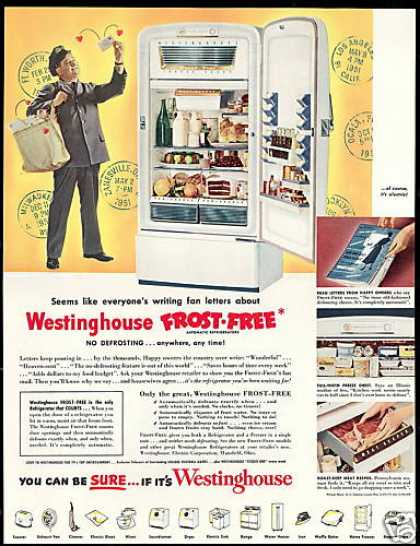 Westinghouse Refrigerator Mailman Photo (1951)