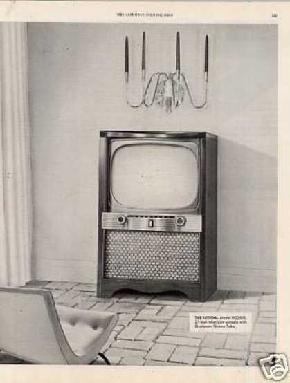 "Zenith ""Sutton"" Television 2 Page Ad M2250r (1954)"