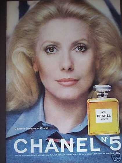 Catherine Deneuve Photo Chanel No 5 Perfume (1976)