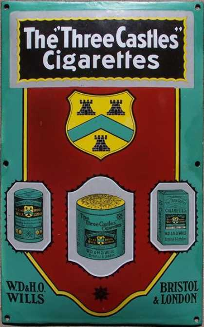 Wills's Three Castles Cigarettes Sign