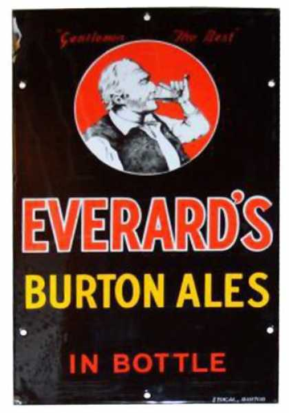 Everard's Burton Ales Enamel Sign