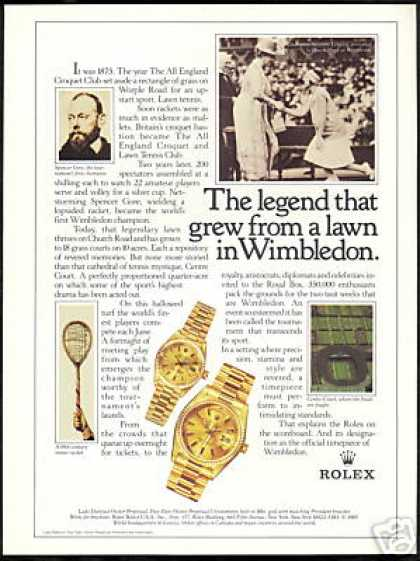 Tennis Wimbledon Rolex Watch Photo (1986)