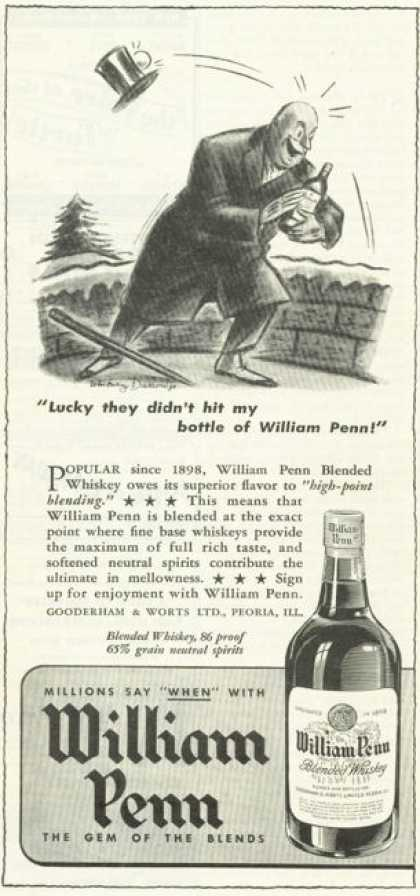 Willaim Penn Whiskey Peoria Illinios Golf (1945)