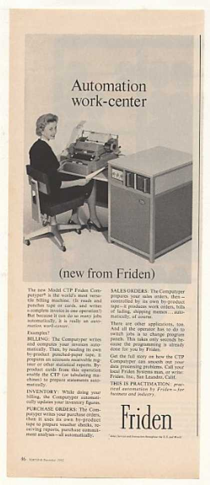 Friden Model CTP Computyper Billing Machine (1962)