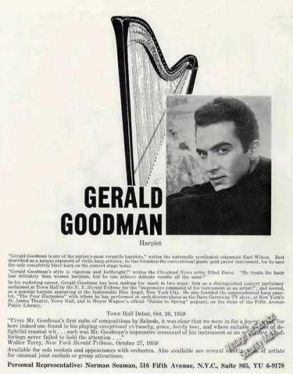 Gerald Goodman Photo Harpist Music (1960)