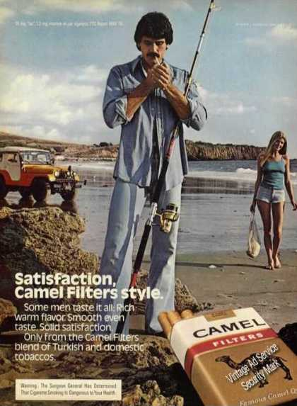 Camel Filters Beach Surfcasting Jeep Girl (1980)