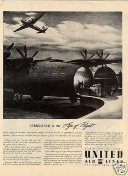 "United Air Lines Ad ""Cargoliner In The... (1942)"