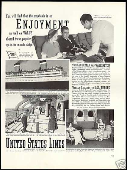 United States Lines Manhattan Washington Ship (1938)