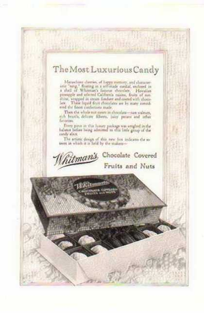 Whitman's Candy – - The Most Luxurious Candy (1924)