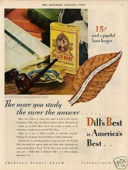 Dill's Best Tobacco Color (1930)