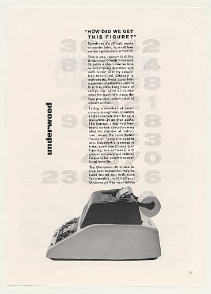 '63 Underwood Olivetti Divisumma 24 Calculator (1963)