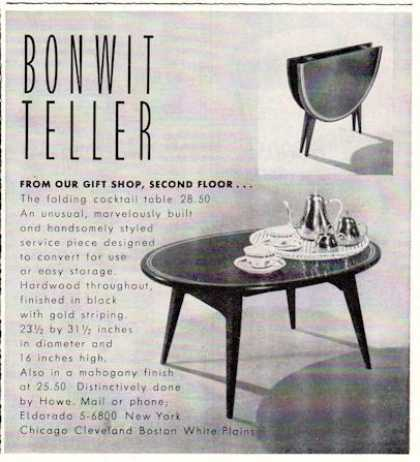 Bonwit Teller Folding Cocktail Table Howe (1953)