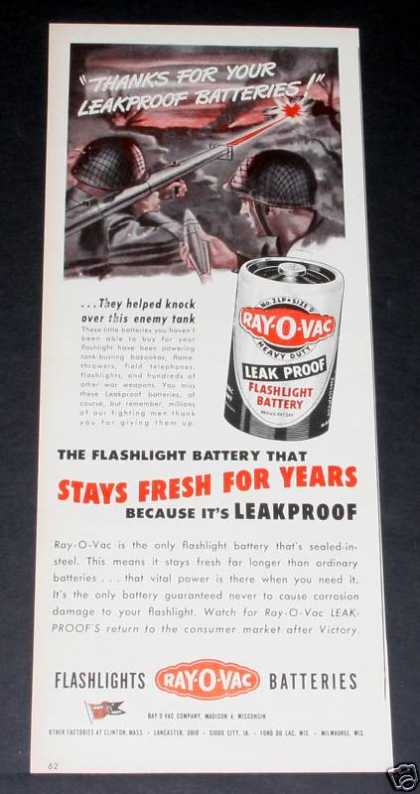Ray-o-vac Batteries, Fresh (1944)