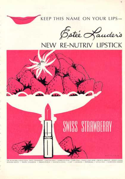 Estee Lauder's Swiss Strawberry Lipstick (1964)