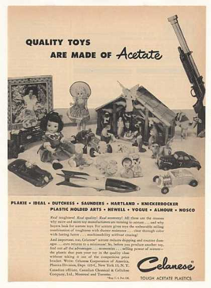 Celanese Acetate Plastic Toys Dolls Cars (1953)
