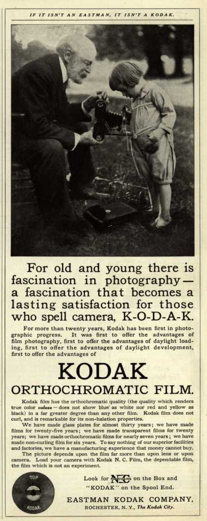 Kodak – For old and young there is a fascination in photography- (1909)