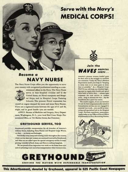 Greyhound – Serve with the Navy's Medical Corps (1945)