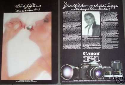 Canon F-1camera Photographer Frank Laffitte (1977)