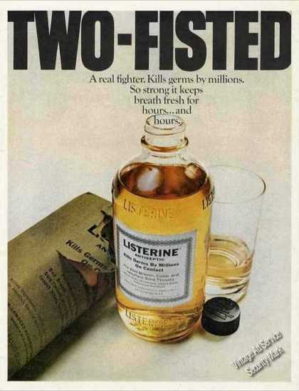 "Listerine Antiseptic ""Two-fisted"" (1969)"