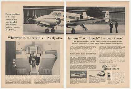 Beechcraft Super H18 Airplane Aircraft Photo 2P (1965)