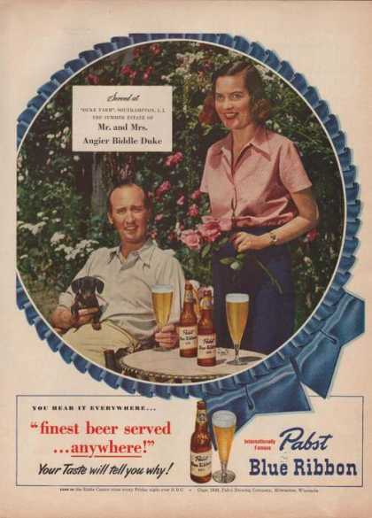 Mr & Mrs Duke for Pabst Blue Ribbon Beer A (1949)