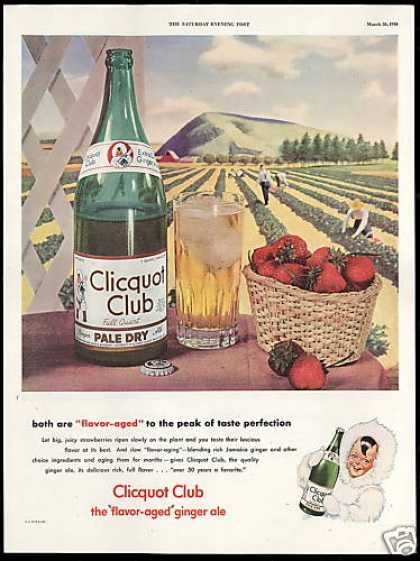 Clicquot Club Ginger Ale Strawberry Field (1946)
