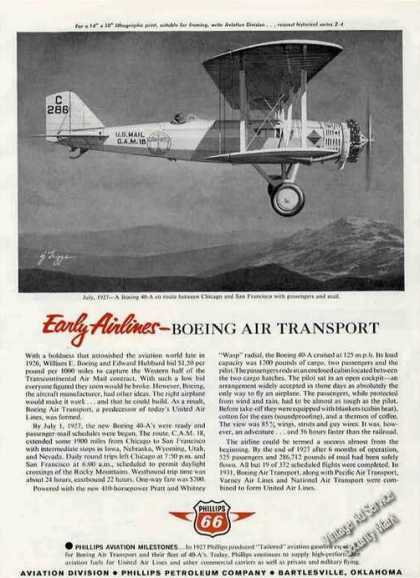Texaco Aviation 1927 Boeing 40-a Photo (1963)