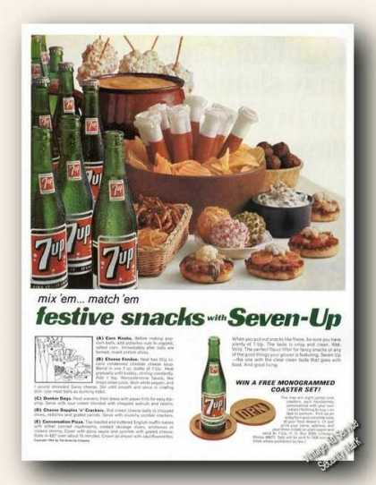 7up Festive Snacks With Seven-up 7-up (1966)