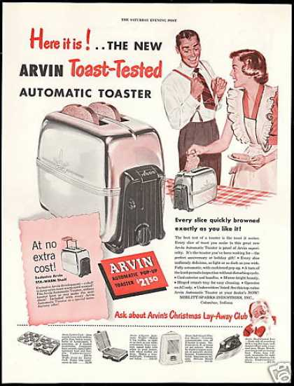 Arvin Automatic Toaster Appliance (1949)