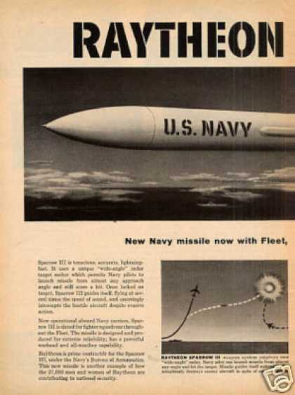 Raytheon Sparrow Iii Jet Fighter Ad 2 Page (1959)