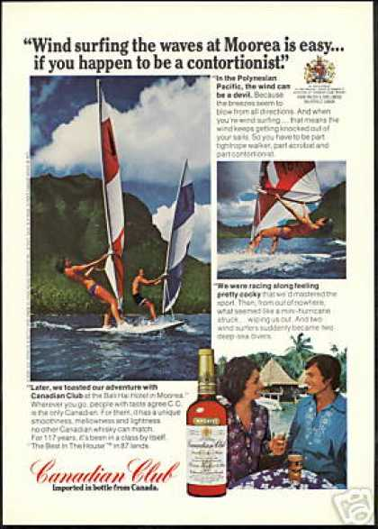 Wind Surfing Moorea Canadian Club Whisky (1975)