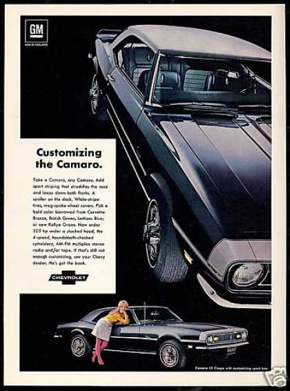 Chevrolet SS Camaro Photo Print Vintage Car (1968)