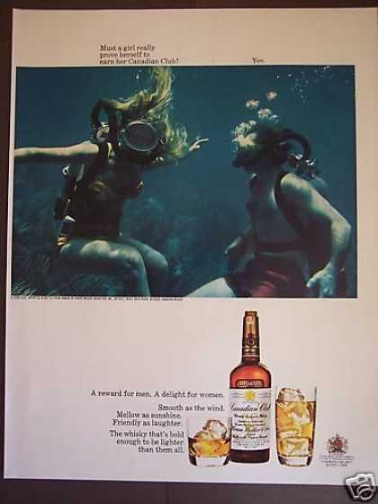 Girl Skindiver Canadian Club Whiskey Photo (1968)