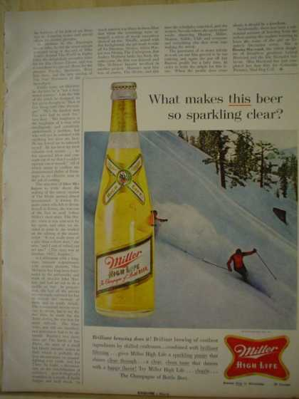Miller Beer What makes this beer so sparkling clear (1961)