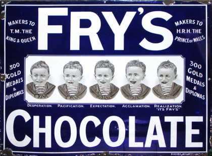 Fry's Five Boys Chocolate Sign – medium size